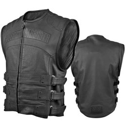 Black Speed & Strength Hard Knock Life Leather Vest