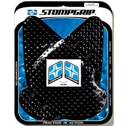 Stompgrip Traction Pad Tank Kit Black For Kawasaki ZX-6R ZX-6RR 2003-2004 ZZR600
