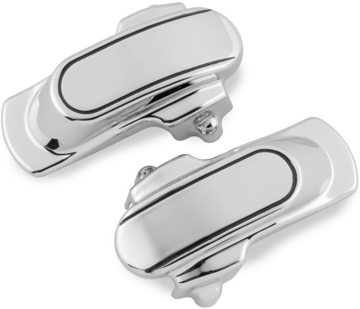 YHMTIVTU Motorcycles Alxe Cover Spun Blade Spinning Axle Caps Cover for Harley Electra Glides Road Kings Road Glides,Chrome