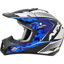AFX FX17 Complex Motocross Face Helmet Blue