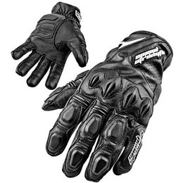 Black Speed & Strength Seven Sins Leather Gloves