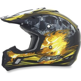 Black, Yellow Afx Mens Fx-17 Fx17 Inferno Helmet Black Yellow