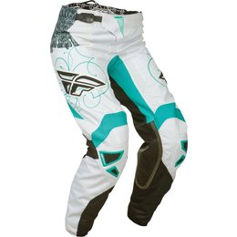 Teal White Fly Racing Girls Kinetic Pants 2015 Us 20