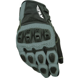 Gunmetal, Black Fly Racing Mens Brawler Perforated Leather Gloves 2015 Gunmetal