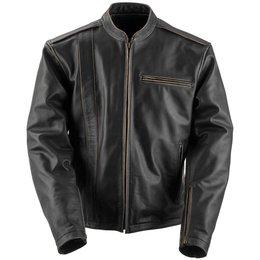 Black Brand Mens Compression Leather Jacket