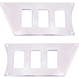 Modquad ATV 6 Slot Switch Plate Pair For Polaris Polished Aluminum RZR-SP6-1K Unpainted