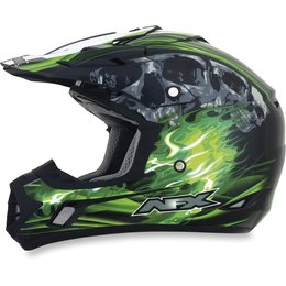 Black, Green Afx Mens Fx-17 Fx17 Inferno Helmet Black Green