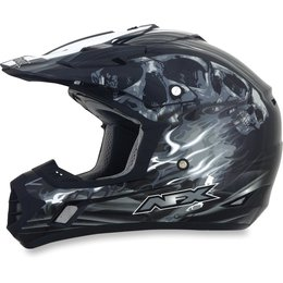 Black Afx Mens Fx-17 Fx17 Inferno Helmet