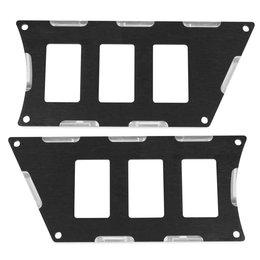 Modquad UTV 6 Slot Switch Plate Pair For Polaris Black Aluminum RZR-SP6-1K-BLK Black
