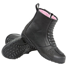 Black Joe Rocket Womens Trixie Waterproof Leather Boots 2013 Us 5
