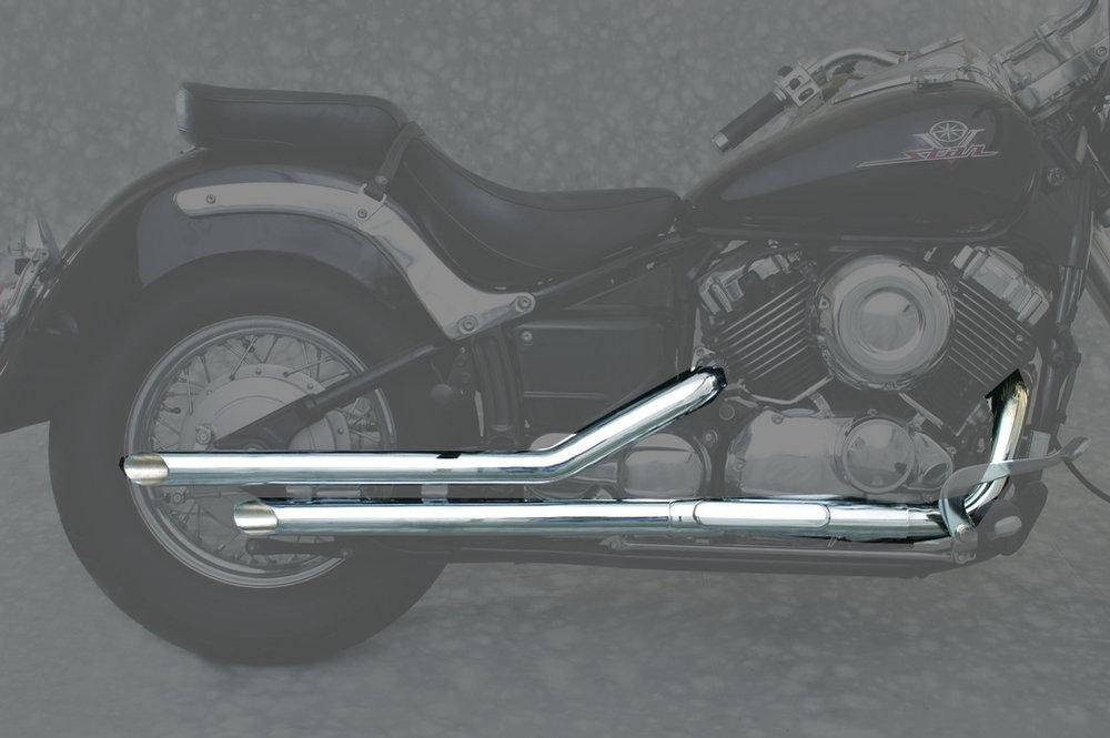 365 95 mac 2 2 2 inch slash cut drag pipe dual exhaust 952945