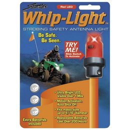 Red Street Fx Antenna Whip Light Atv Universal