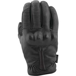 Speed & Strength Mens The Quick And The Dead Leather Riding Glove Black