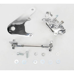 Polished Aluminum Performance Machine Rear Brake Caliper 10 Inch Rotors Polished Alum For Hd All