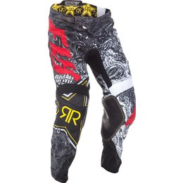 Fly Racing Mens Kinetic Mesh Rockstar MX Pants Black