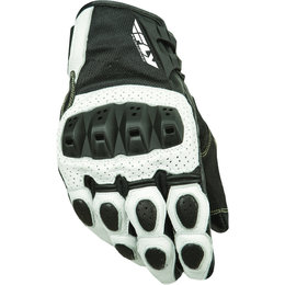 White, Black Fly Racing Mens Brawler Perforated Leather Gloves 2015 White