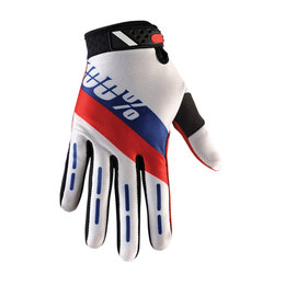 100% Mens Honor Ridefit MX Motocross Riding Gloves Red