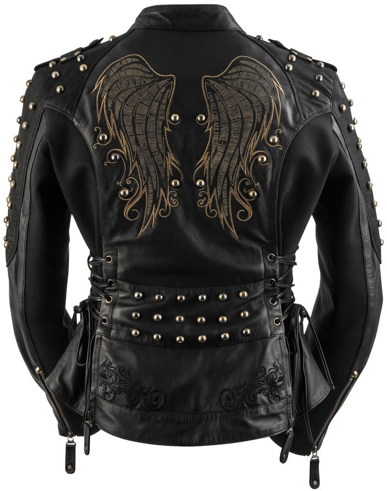 Cheap black leather jackets for women