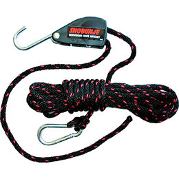 Snobunje Sidewinder Rope Ratchet Block With 3/8 X 20 Rope For Snowmobiles 1015 Black