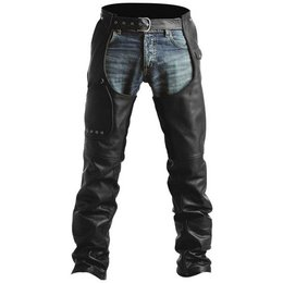 Black Pokerun Outlaw 2.0 Leather Chaps
