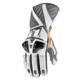 White Icon Mens Hypersport Pro Long Leather Gloves 2014