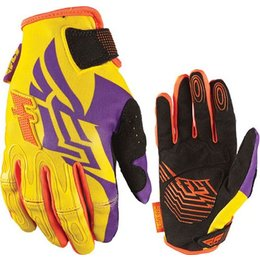 Purple, Yellow Fly Racing Womens Kinetic Gloves 2013 Purple Yellow