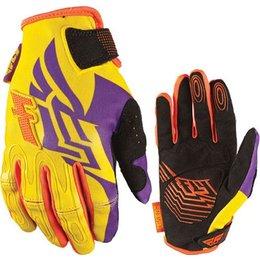 Purple, Yellow Fly Racing Womens Kinetic Gloves 2013 Purple Yellow