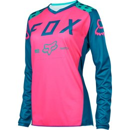 Fox Racing Womens Switch Motocross MX Riding Jersey Blue
