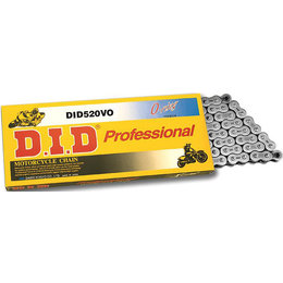 DID Chain Professional 520VO O-Ring Chain 104 Links Natural 520VO-104L Unpainted