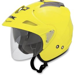 Hi-vis Yellow Afx Mens Fx-50 Fx50 Open Face Helmet