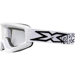 EKS Brand GOX Flatout Goggles White
