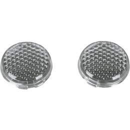 Drag Specialties Deuce-Style Turn Signal Lenses Pair For Harley Clear 2020-0282