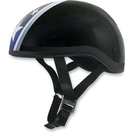 Black Afx Mens Fx-200 Fx200 Slick Star Naked Half Helmet