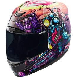 Icon Airmada Space Bass Face Full Face Helmet Purple