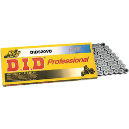 DID Chain Professional 520VO O-Ring Chain 110 Links Black 520VOX110FB Unpainted