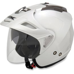 Pearl White Afx Mens Fx-50 Fx50 Open Face Helmet