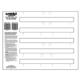 Woodys Two-Ply Quiet Pad Snowmobile Studding Template 129 Inch 286QUIET-TEMP Unpainted
