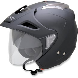 Flat Black Afx Mens Fx-50 Fx50 Open Face Helmet