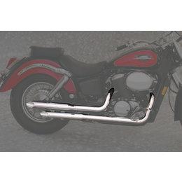 MAC 2:2 Staggered Dual Exhaust W/ Slash-Cut Mufflers Chr For Hon Shadow 750 ACE
