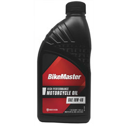 Bikemaster High Performance Motorcycle Oil 10W40 1 Quart 532310 Unpainted