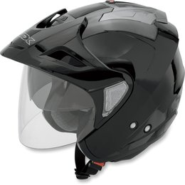 Black Afx Mens Fx-50 Fx50 Open Face Helmet