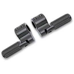 Lindby Clamp-On Ribbed Footpegs Anodized Black