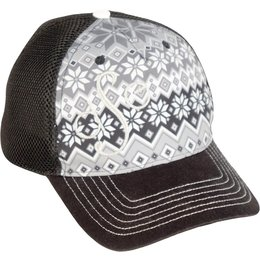 Divas Womens Trucker Adjustable Hat Black