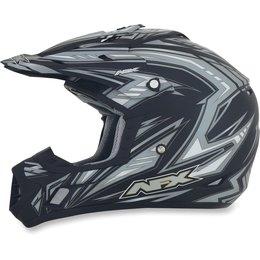 Flat Black Afx Mens Fx-17 Fx17 Factor Helmet