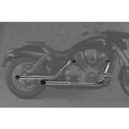 MAC 2:2 Staggered Dual Exhaust W/ Slash-Cut Mflrs Chrome For Hon VTX1800C 02-07