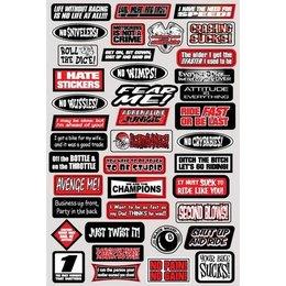 Factory Effex Decal Fun Phrases Sticker Kit 07-68012