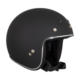 Z1R Jimmy Rubatone Open Face 3/4 Motorcycle Helmet With Snaps Black
