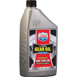 Lucas Oil Synthetic V-Twin Gear Oil 75W-140 32 Oz 10791 Unpainted