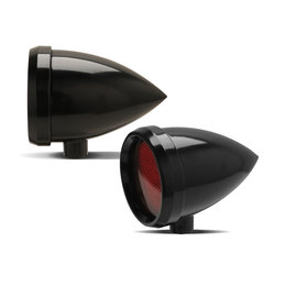 Arlen Ness Speeding Bullet Marker Light Smooth Black W/ Amber LED Universal Black