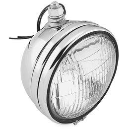 Biker's Choice 5-3/4 Patterned Lens Headlight Harley FX FXR Chrome FD-H/N Unpainted
